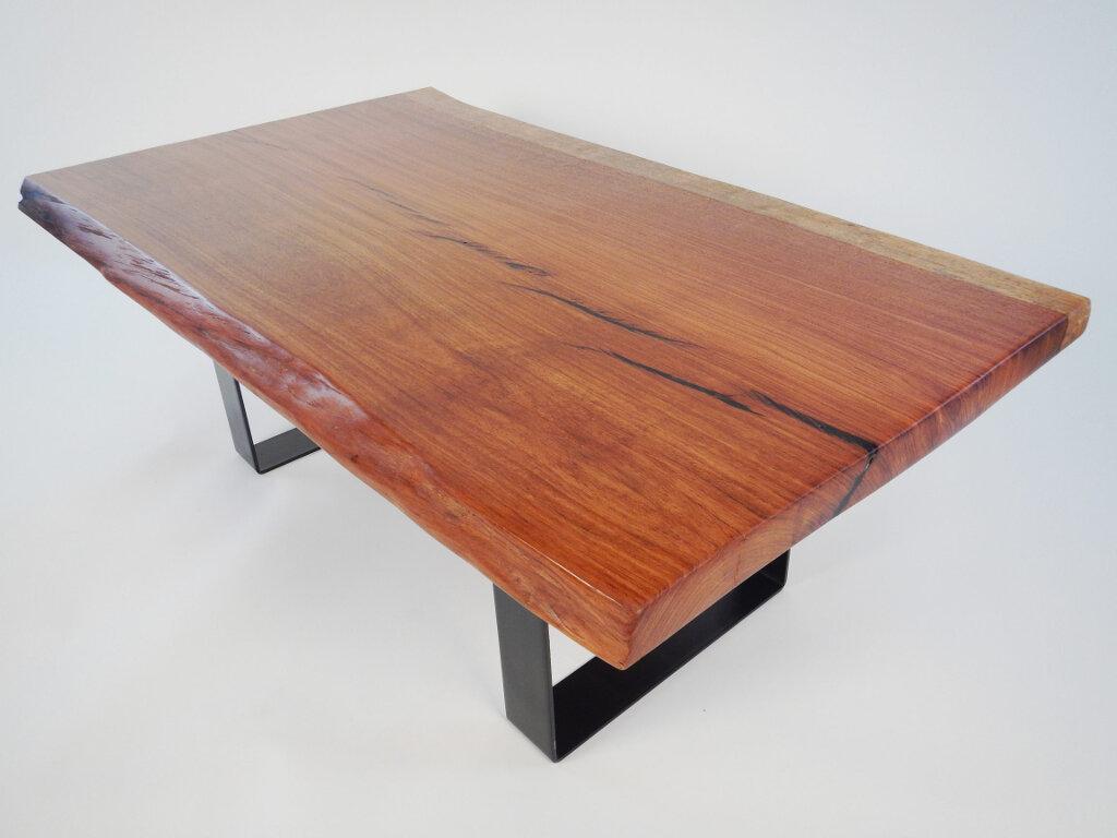 Live Edge Brazilian Cherry Coffee Table Vantz Furniture