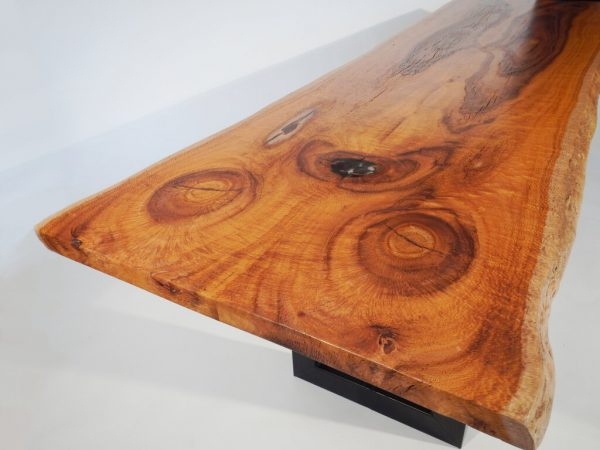 Silk Oak Live Edge Dining/Kitchen Table
