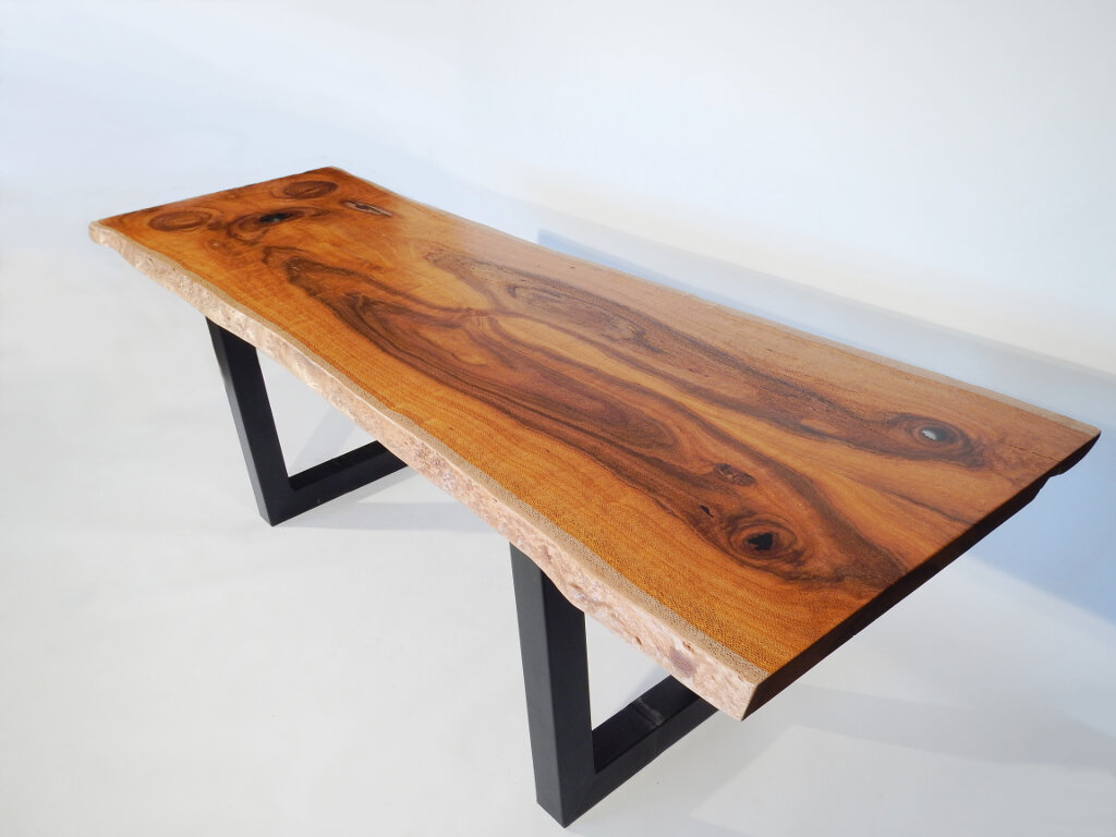 Live Edge Silk Oak Dining Kitchen Table